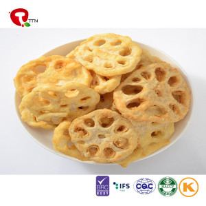 TTN Sell Vacuum Fried Lotus Root Slice With  Lotus Root Slice  Vegetables Snack