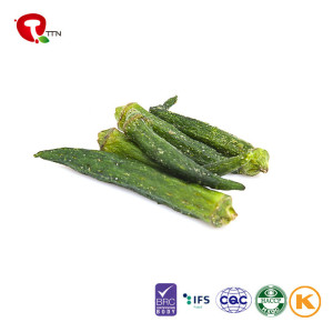 TTN  Wholesale sales are very empty Fried okra nutrition healthy green vegetables