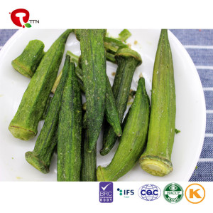 TTN Hot sale wholesale healthy vacuum fried okra chips