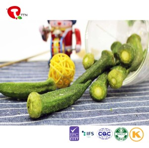 TTN  China manufacturers wholesale vacuum fried okra vegetables natural green health