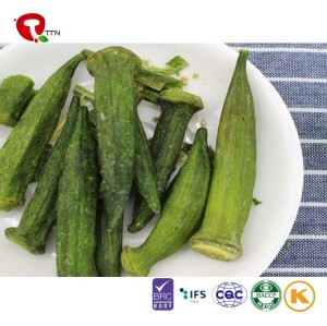 TTN  wholesale green okra vacuum fried okra manufacturer sales