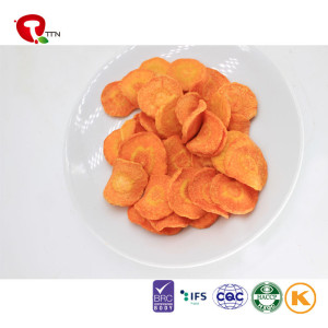TTN Hot Sale Carrot Nutritional Value Vacuum Fried Vegetable