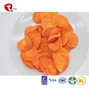 TTN 2018 Hot Sale Vacuum Fried Carrot Health Quality Gold Supplier
