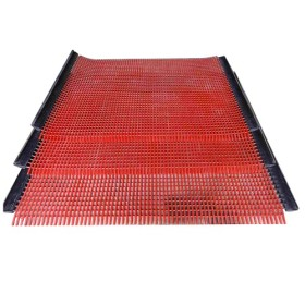 polyurethane wire mesh polyurethane tension screen mat with hook