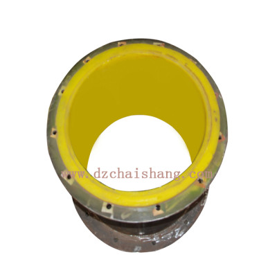 Polyurethane lined pipe WITH acid and alkali resistant characteristic