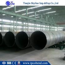 SCH40 China Supplier SSAW Spiral welded steel pipe