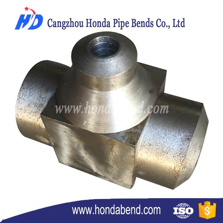 Stainless steel carbon socket welding seamless tee
