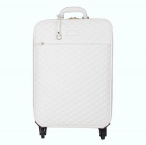 Snow White PU leather trolley luggage set