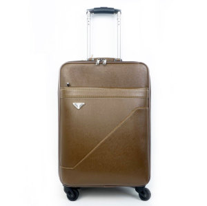 eminent PU waterproof business leisure travel luggaeg bags men and ladies trolley luggage bag set