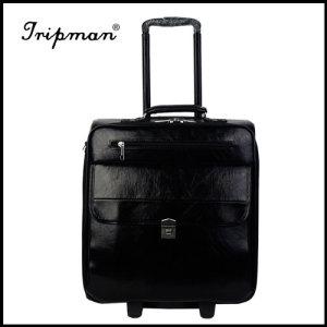 pu material soft trolley luggage, High quality trolley case