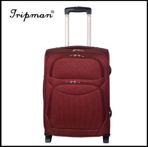 Lightweight Two Built-in Wheels Nylon Trolley Luggage, 20