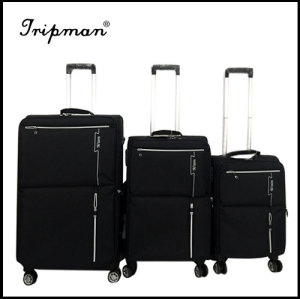 2017 New nylon rolling four wheels luggage case suitcase popular code case