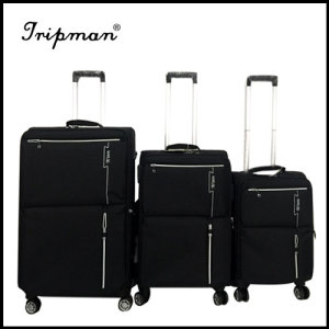 2017 New nylon rolling four wheels luggage case suitcase popular code case