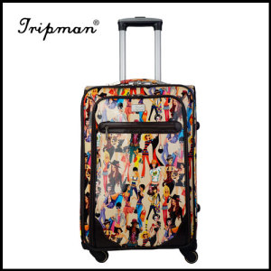 Stylish New design leopard Pattern PU travel luggage suitcase