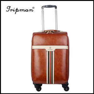 PU PVC Synthetic Leather Fashionable Trolley Luggage
