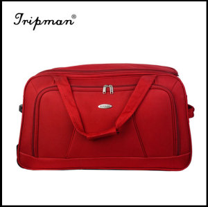 Trolley duffle bag nylon luggage bag trolley, with carry handle and shoulder strap