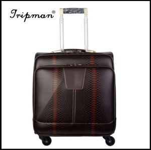 PU PVC Synthetic Leather 18 Inches Fashionable Trolley Luggage