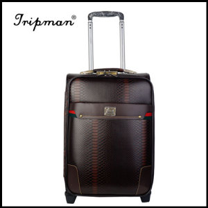 Gift Custom PU Leather Trolley Luggage