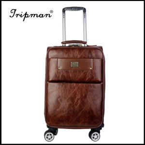 4 Airplane Wheels PU leather Fashionable travel Trolley luggage