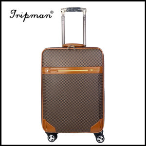 Gift Custom PU Leather Trolley Luggage