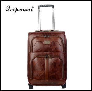 2 Wheels PU leather Fashionable travel Trolley luggage