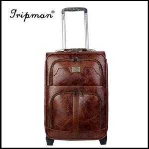 2 Wheels PU leather Fashionable travel Trolley luggage