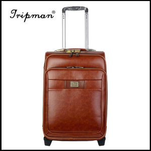 PU leather Fashionable travel Trolley luggage