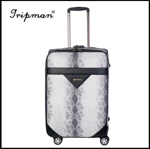 Stylish Designed Soft-side Trolley Luggage, Made of PU leather