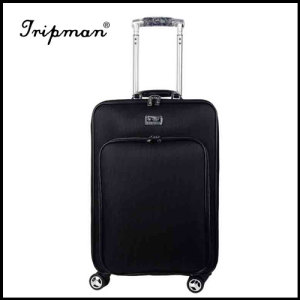 New Design 4 airplane wheels Cool black large capacity Soft PU Luggage