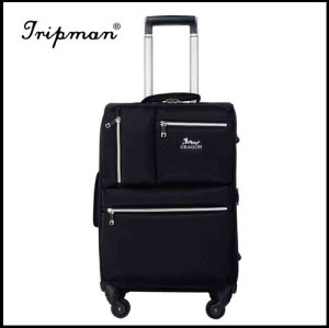 4-wheel trolley bag, made of nylon with aluminum trolley, with customized orders
