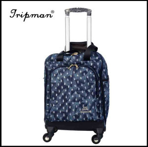 Four Wheels Nylon Trolley Luggage