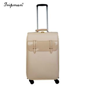 Inside or Ouside Iron Aluminum Trolley Case Globe Travel Carry on Wheel Luggage