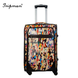 Fashion Cheap Personalized Carry on Suitcase Sky Travel Luggage Set