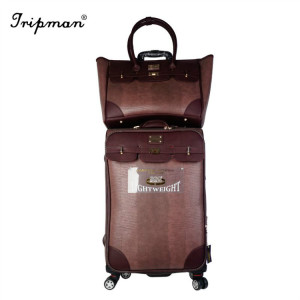 Tripman 2018 PU Luggage Set Handbag Outside Trolley Luggage