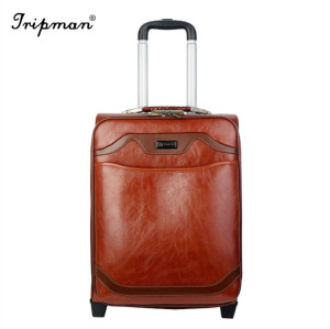 Tripman 2018 PU Luggage Outside Trolley Luggage