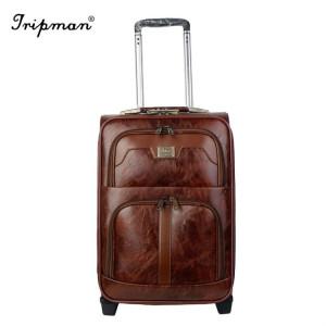 Tripman 2018 PU Luggage Outside Trolley Luggage