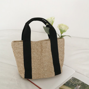Wholesale vacation beach lady handbags mexico cheap crochet straw tote bag