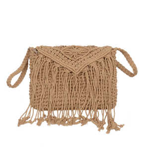 Manufacturers lady casual tote bag women shoulder bag beach straw bag with tassel