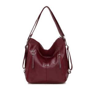 Designer pu leather convertible ladies tote messenger shoulder bag women backpack for girls