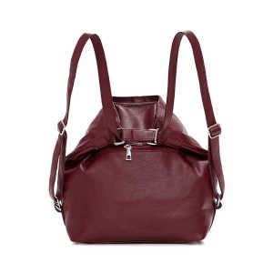 Designer pu leather convertible women messenger shoulder bag backpack for girls