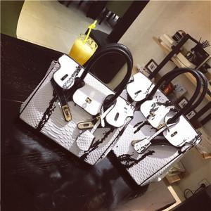 New fashion women's tote messenger bag handbag crocodile pattern leather single shoulder bag