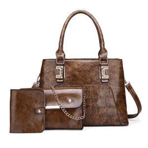 4pcs/set vintage fashion crocodile skin messenger shoulder bag handbag for women