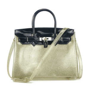 Fashionable colorful ladies clear pvc jelly hand bags crossbody shoulder bag handbags for women