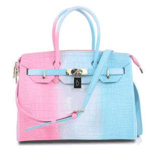 Fashion luxury crocodile skin pattern print pvc silicone women jelly crossbody shoulder bag lady handbag