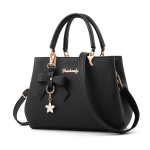 In stock fashion classy luxury casual tote thread pu leather luxury women bags handbags for lady
