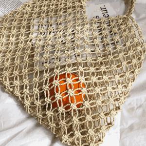 Classic hollow out fashion lady retro indonesia spain monogram morocco straw beach tote bag