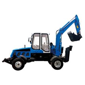 WYL5.6 wheel excavator   0.25m3 bucket   5.35 ton   henglida