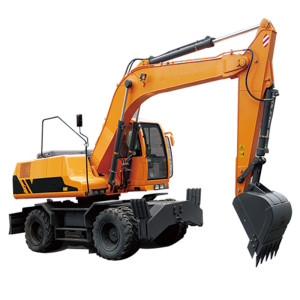 JYL6085 quality wheel excavator | 0.32m3 bucket | 7.8 ton | hydraulic wheel excavator