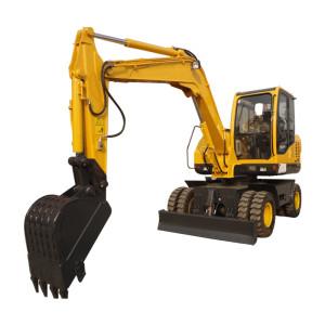WYL75 wheel excavator | 0.25m3 bucket | 6.55 ton | 4 wheel driven | wheel excavator for sale on low price