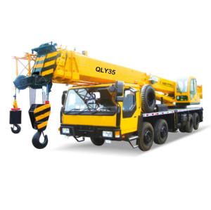 QLY35 truck crane   hydraulic truck crane   35 ton lifting capacity   high quality QLY series telescopic truck crane for Sale